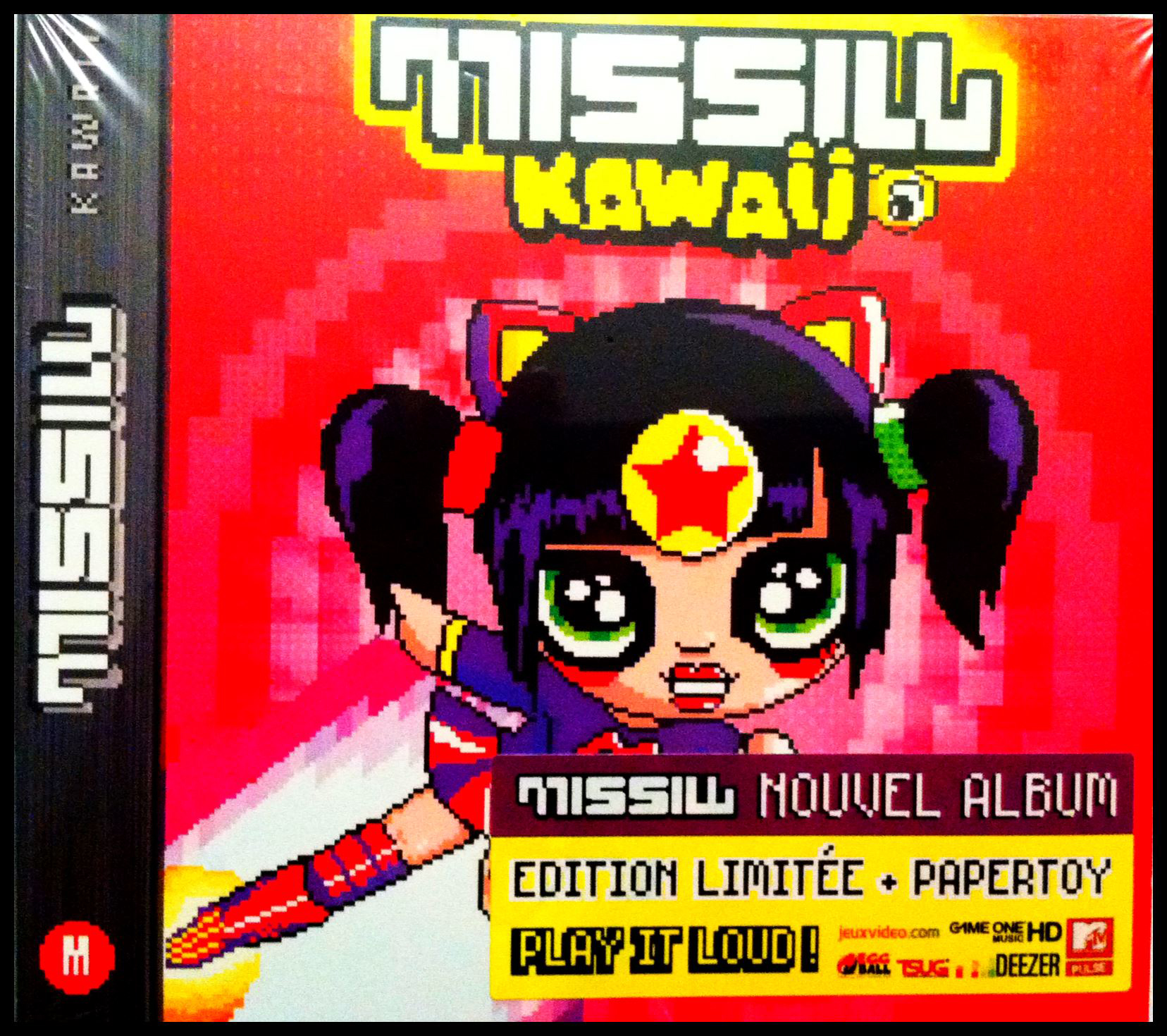 Paper Toy CD insert for DJ Missill's 'INVINCIBLE' release!